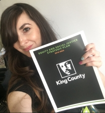 Ericka gifted us all copies of King County's Equity and Social Justice Strategic Plan.